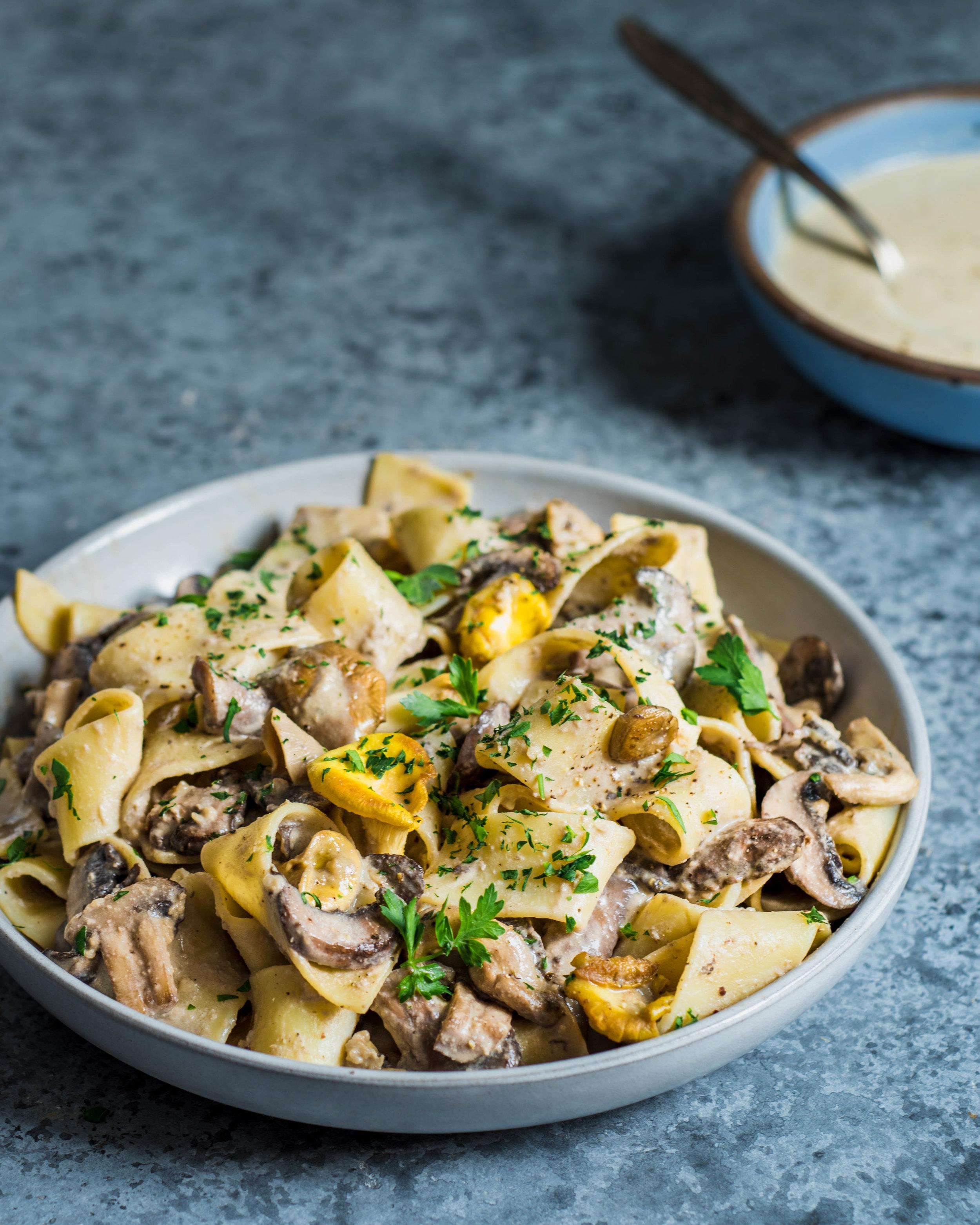 5-Ingredient Vegan Recipes, Creamy Vegan Mushroom Pasta