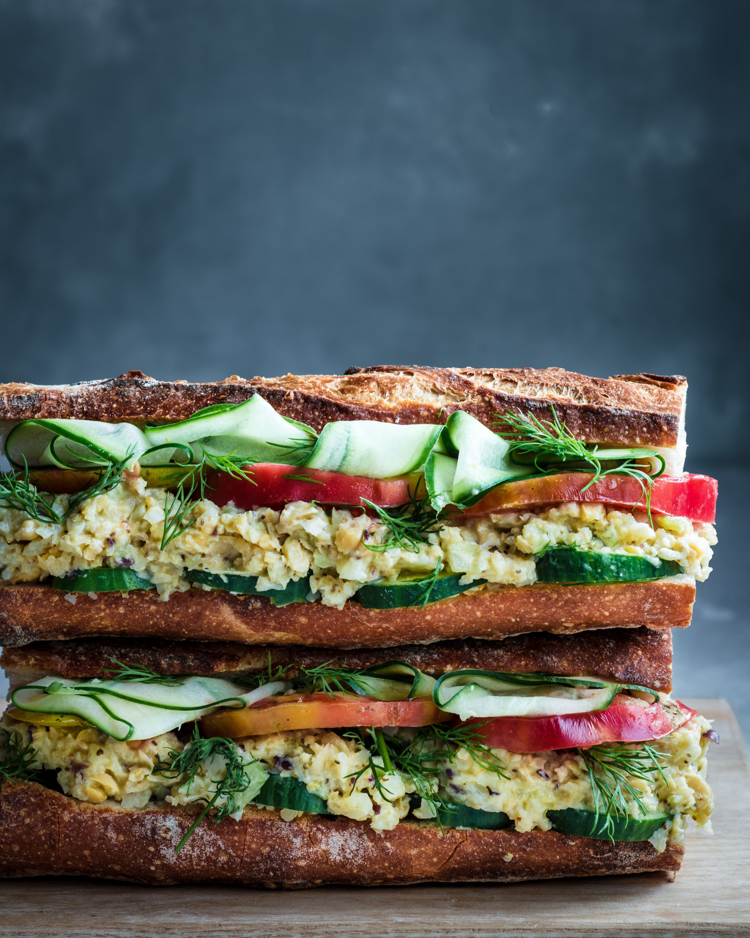 Vegan Tuna Salad Sandwich. Vegan Chickpea Tuna Salad Sandwich.
