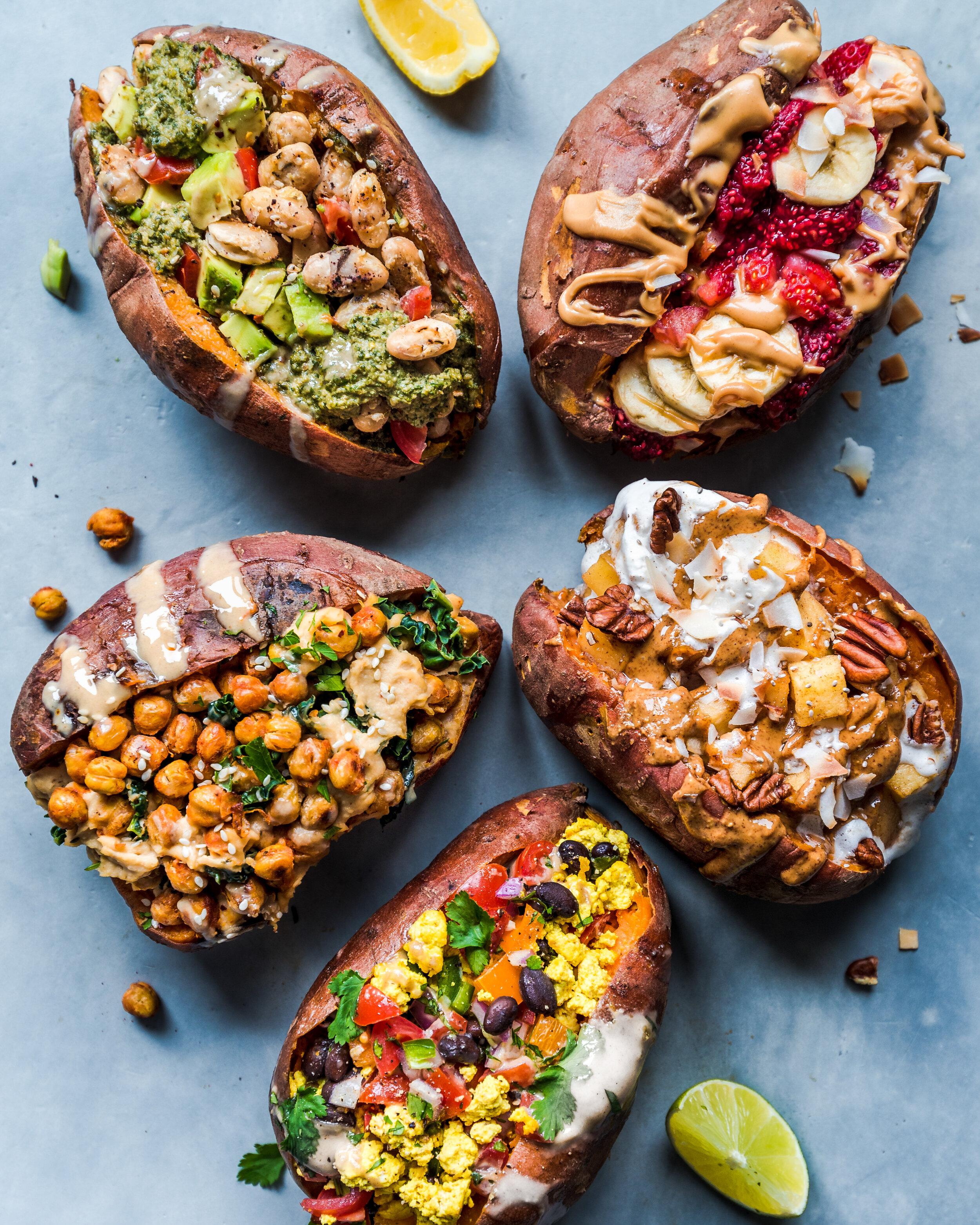 Stuffed Breakfast Sweet Potatoes 5 Recipes Rainbow Plant Life