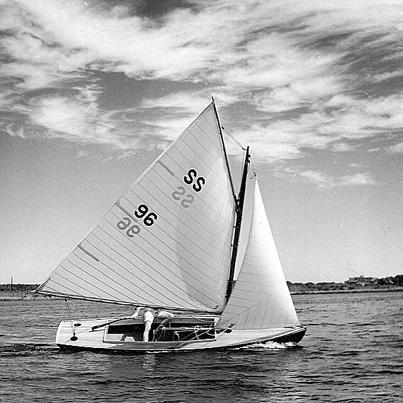 Original Fiji 96 being sailed by Abby Connett. Photo by Hugh Connett.