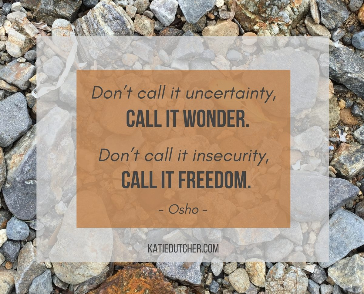 Are you facing Uncertainty or Anxiety in your life? - Want a little courage boost?