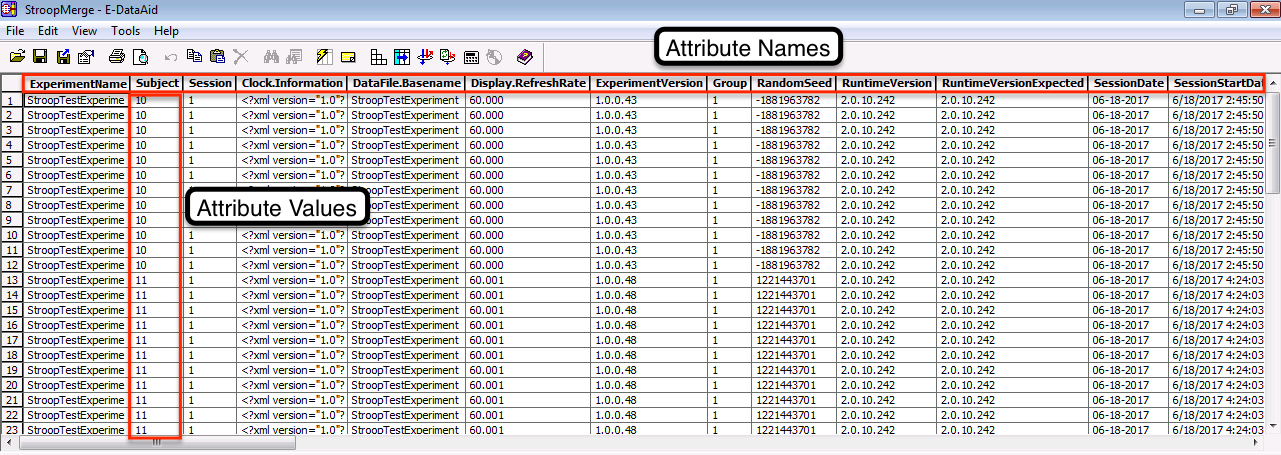 An example screenshot of the E-DataAid interface.