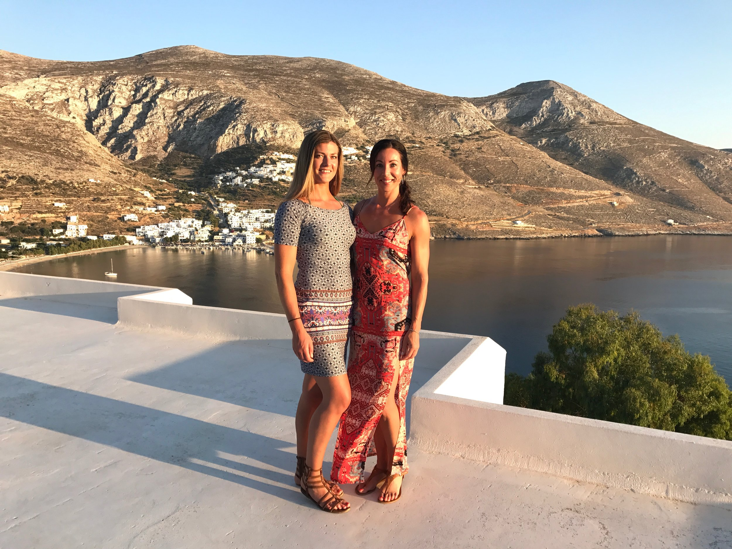 Sunset at the stunning Aegialis hotel in Amorgos, Greece