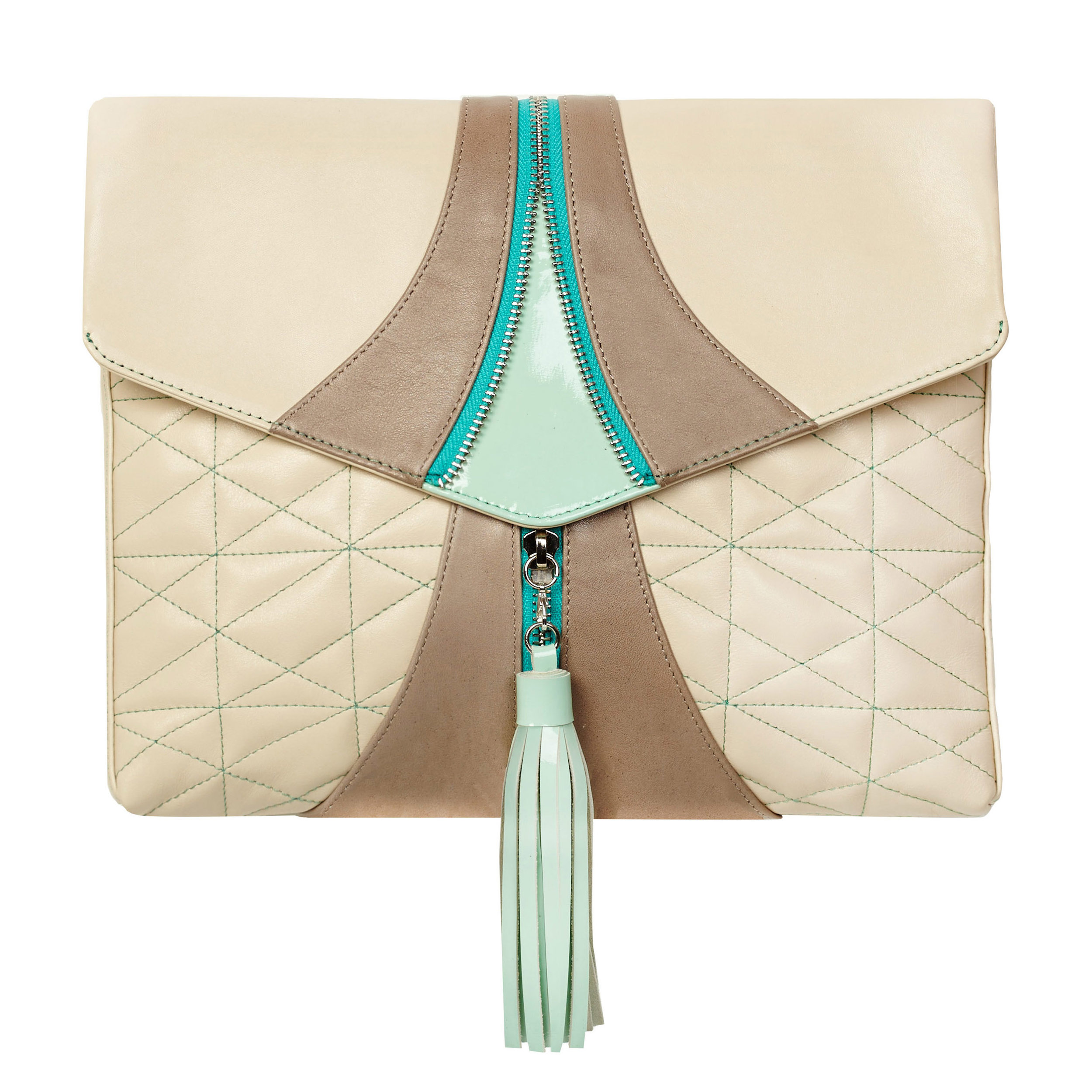Luxe Beige | Soft Brown +Dazzling Mint - $445.00
