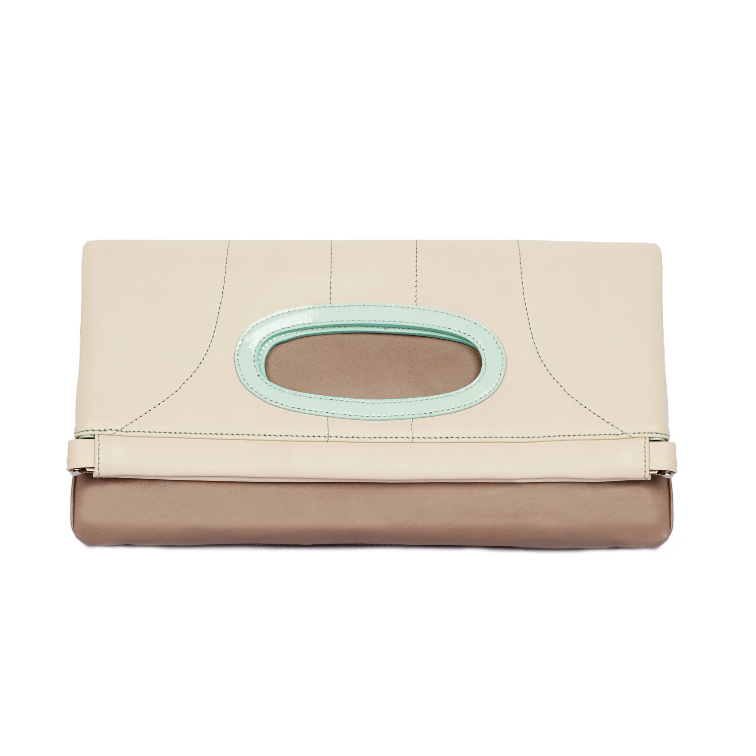 Luxe Beige | Soft Brown +Dazzling Mint - $395.00