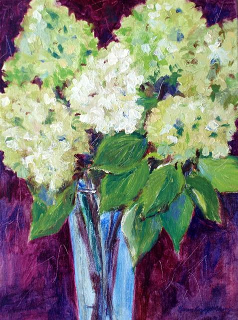Hydrangeas in the Blue Vase