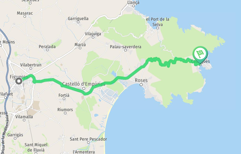 Route de Figueras à Cadaques - 52 minutes
