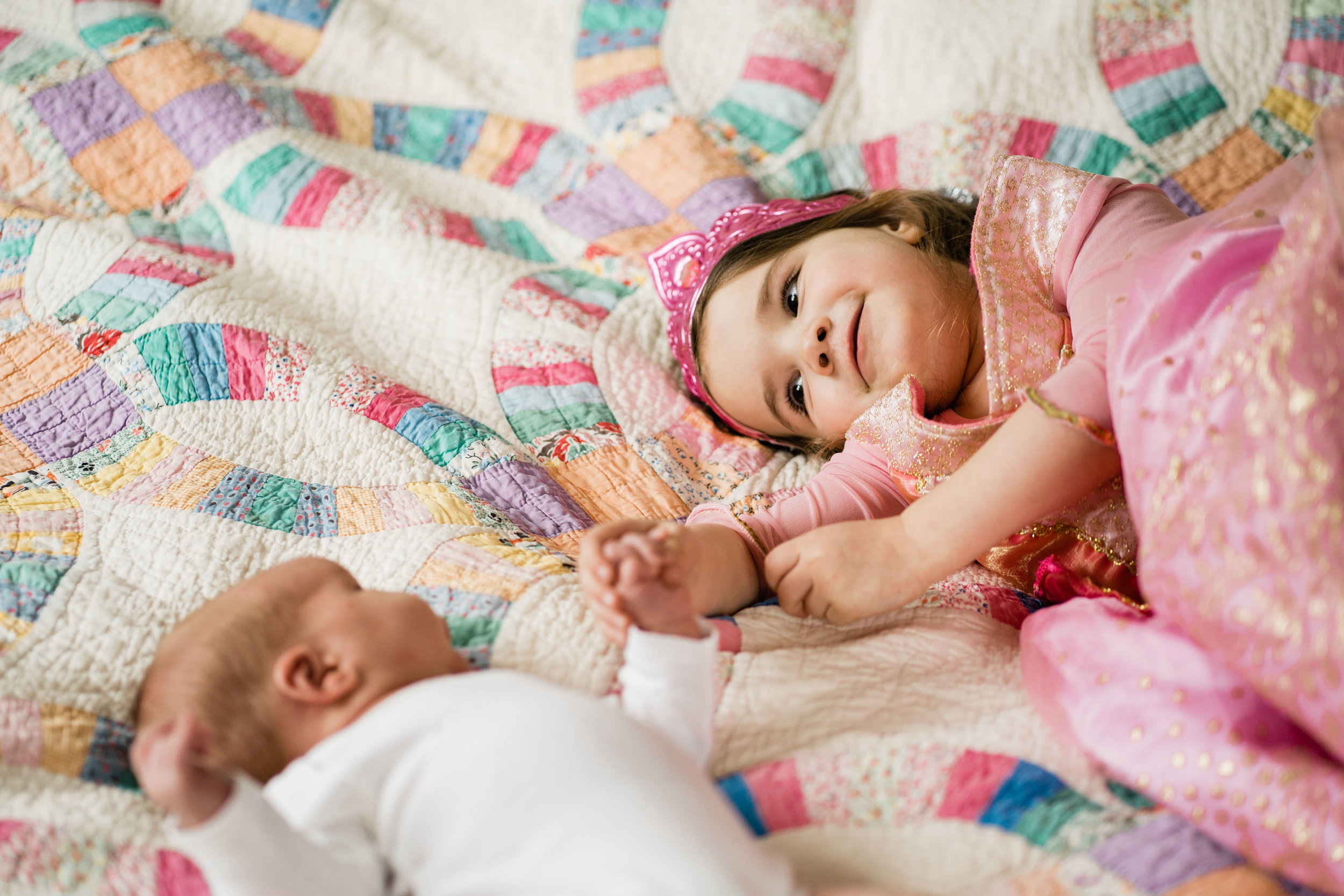 newborn photography princess big sister