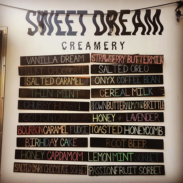 It's the WEEKEND!!! Come celebrate the beginning of this beautiful weather with some craft ice cream! Honey Cardamom and Brown Butter Almond Brittle are BACK!! ✌️❤️🍦