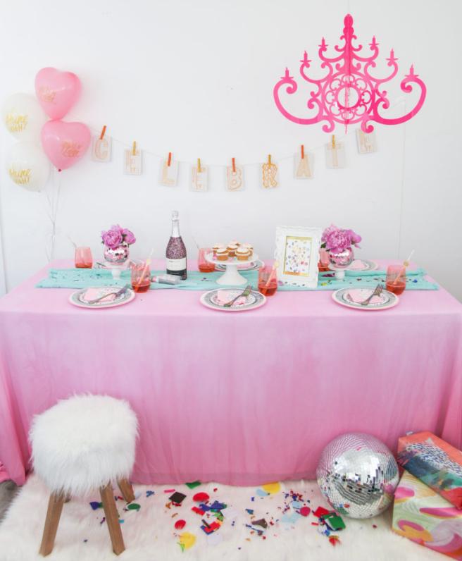 Hot Pink Fancy Chandelier by NK Thimble Press CS 3