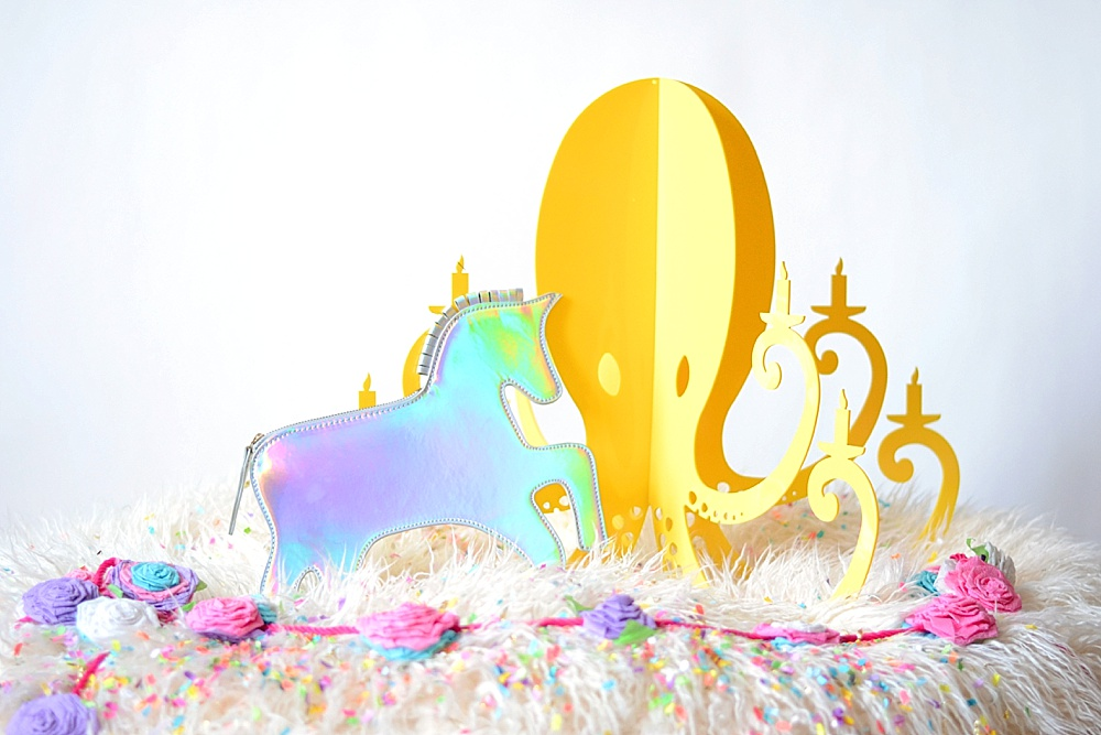 Yellow Octopus Unicorn Roses Chandelier By NK.jpg