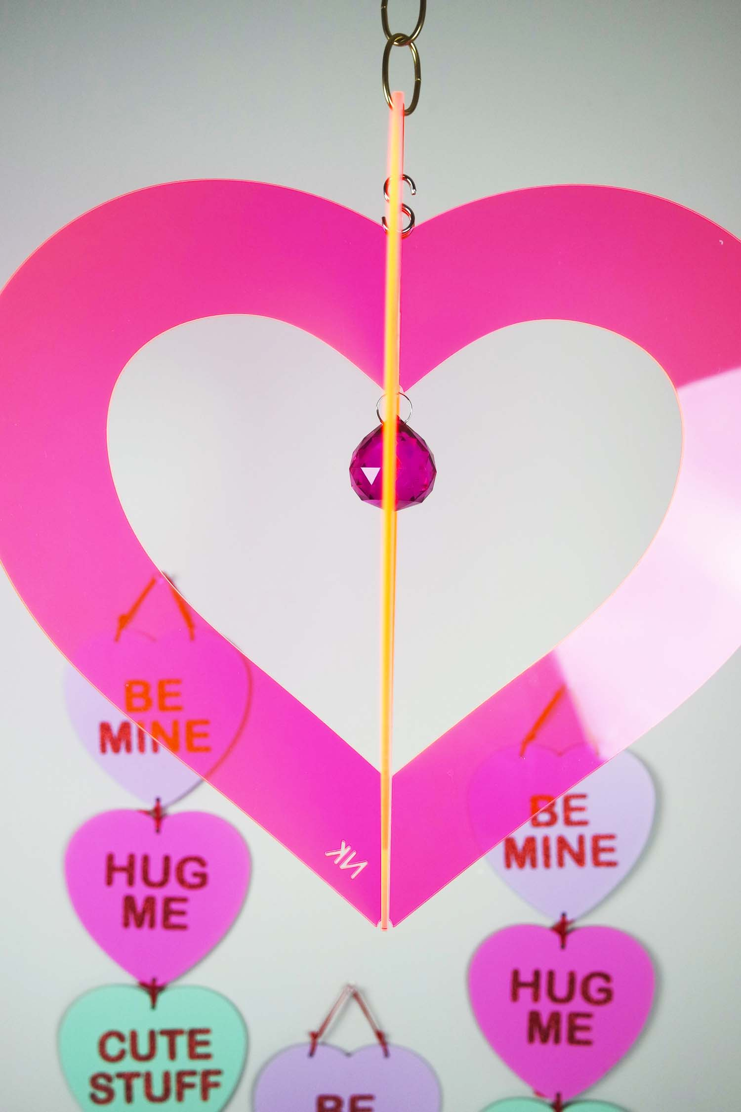 Heart Chandelier Pink NK