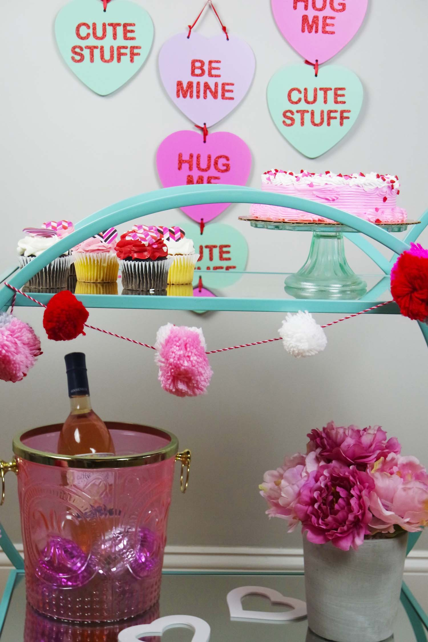 Champagne and Bar Cart Pink
