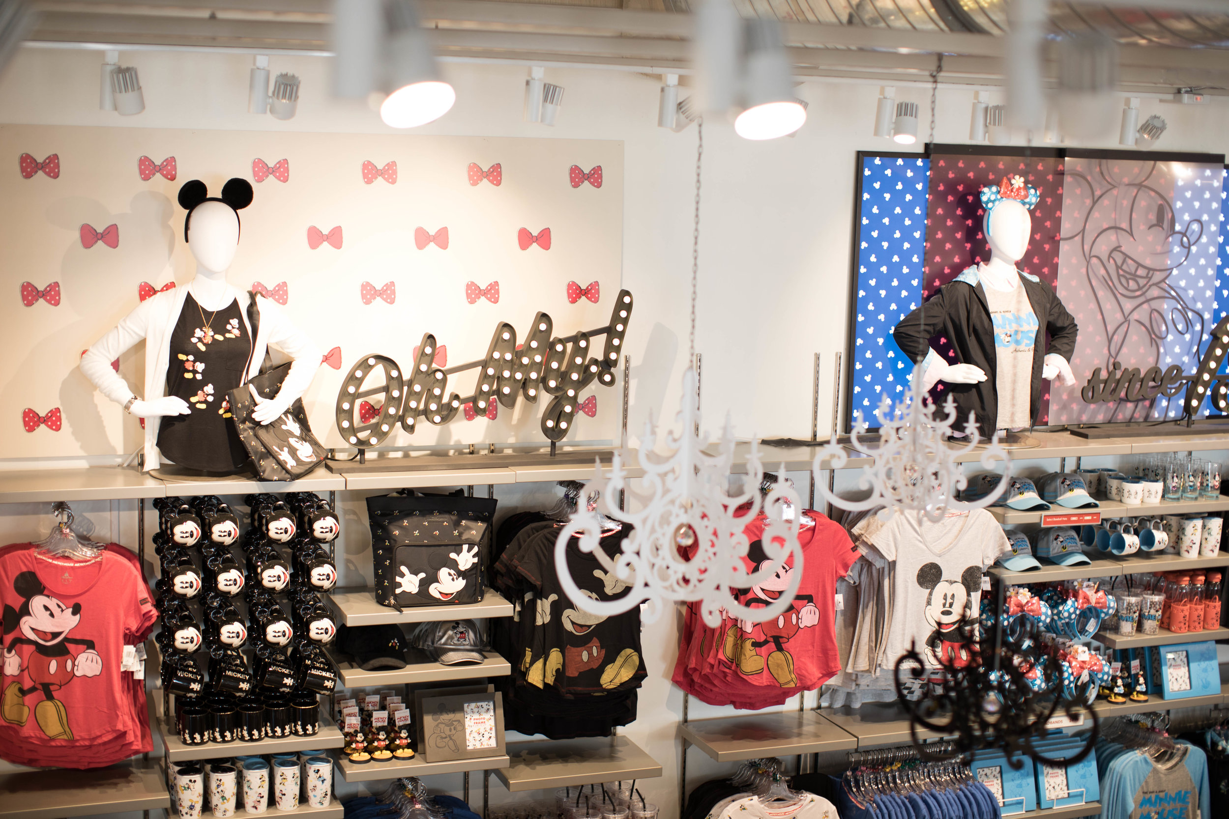 Our most popular White Chandeliers were added to the front part of the store, near the cash registers. They compliment the black and white decor in the merchandise.