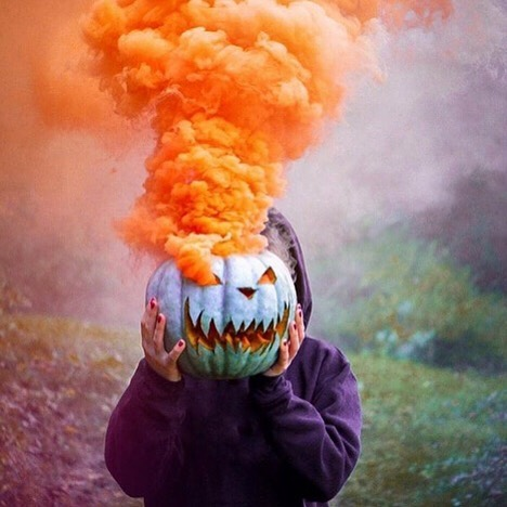Happy October 1st! I'm loving this smoke effect awesomeness by @smoke.effect I am thinking of so many ideas to use this with. Don't you agree it's fun and spooky? #october #october🍁 #october1st #pumpkin #pumpkinspice #smokebomb #smokebombs #spookyscary #halloween #halloween🎃 #halloweendecorating #halloweendecor #spooky #moderndecoration #orange