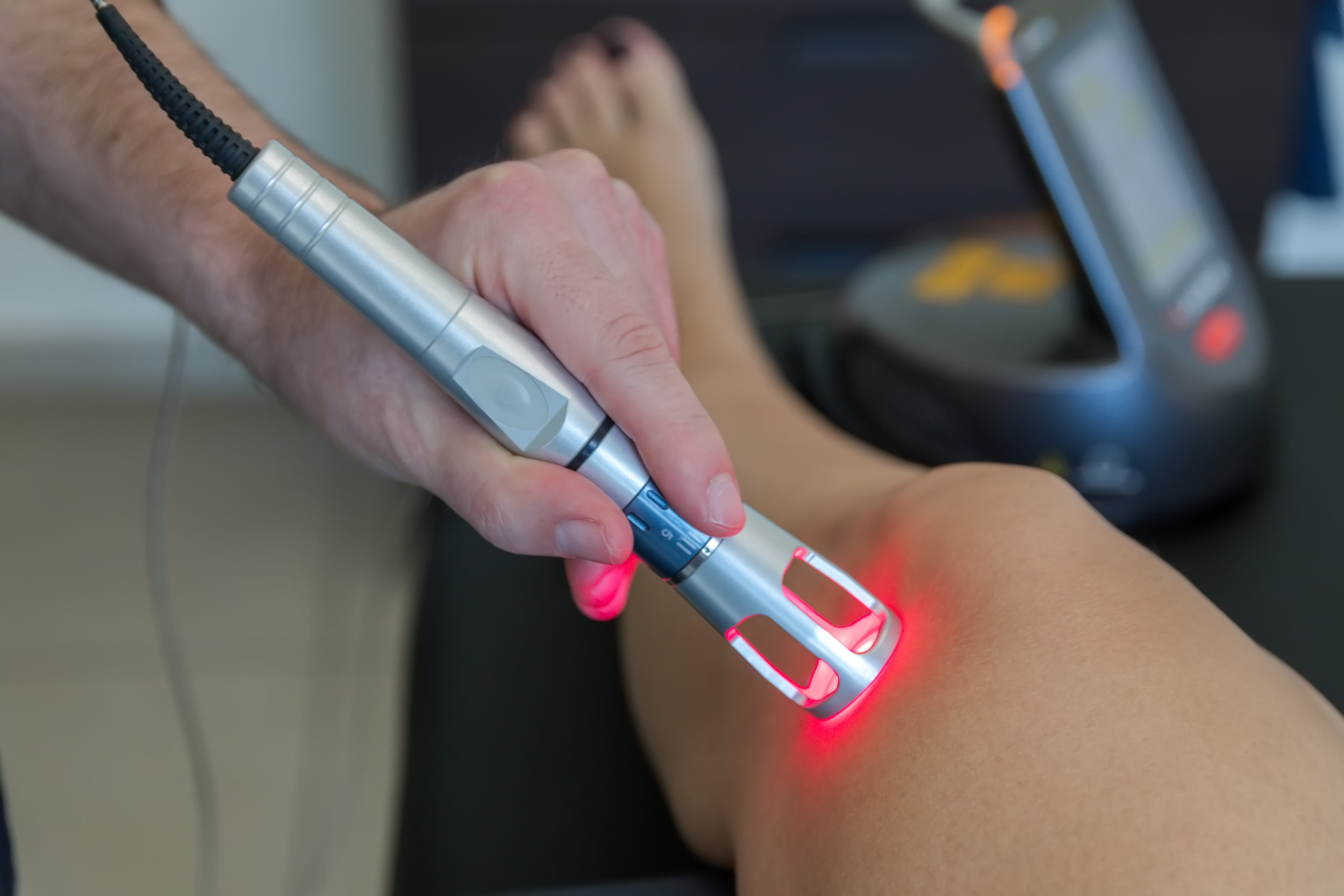 Class IV Laser Therapy - Using high energy light therapy, our Class IV Laser system decreases pain, decreases inflammation, increases healing factors and increases blood flow to the area.