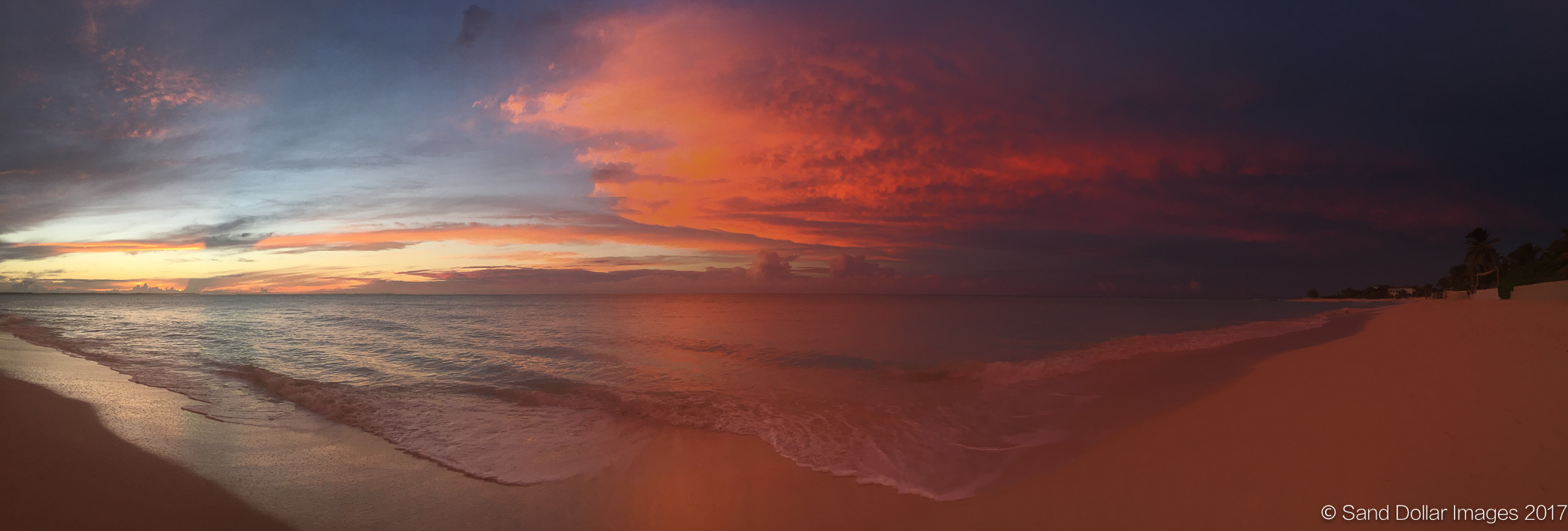 """Pelican Beach Sunset (available only in 8"""" x 23.5"""")"""
