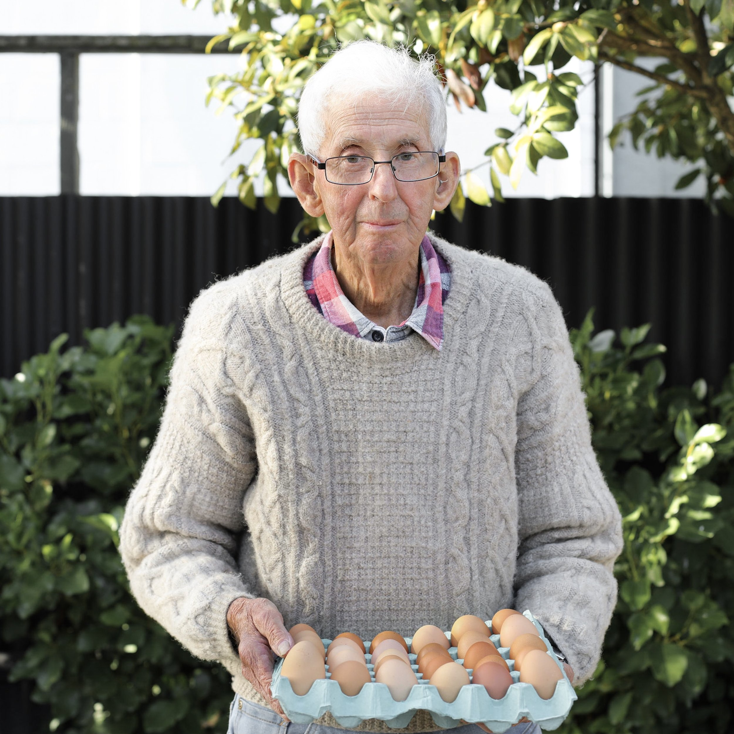 Bill from the hill - Bill is our egg man, and what a hero he is. Bill raises his red shavers at his home up Reikiorangi. They run free up the hill, laying their eggs happily. Bill then brings them down to us for Fi to whip up some of your favourite dishes.