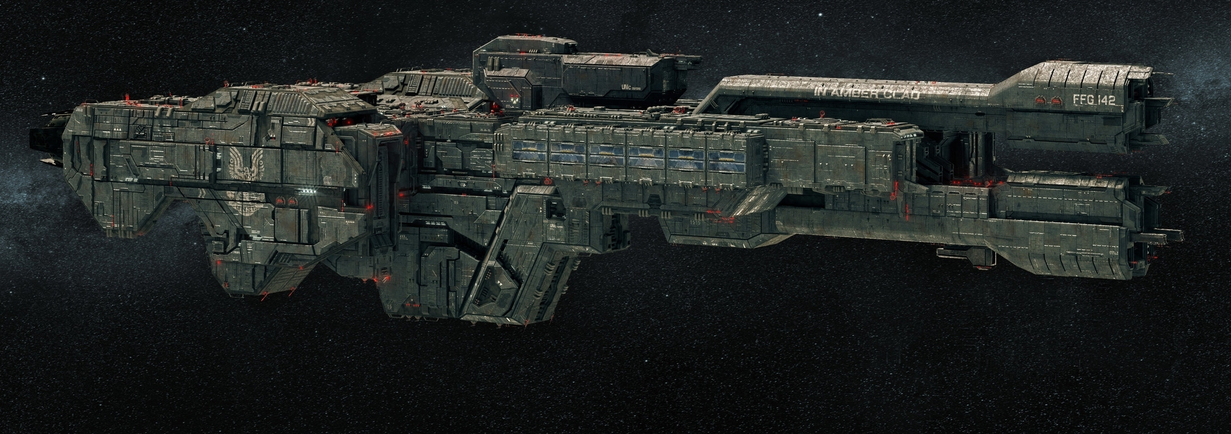 IN AMBER CLAD - TYPE: Stalwart-class light frigateCOMMISSION DATE: February 9th, 2547DESTRUCTION DATE: November 3rd, 2552