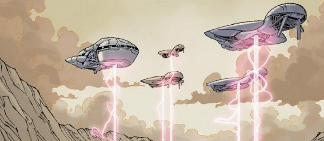 BATTLE FOR ALLUVION - Covenant warships glassing the surface of Alluvion, c. 2542.