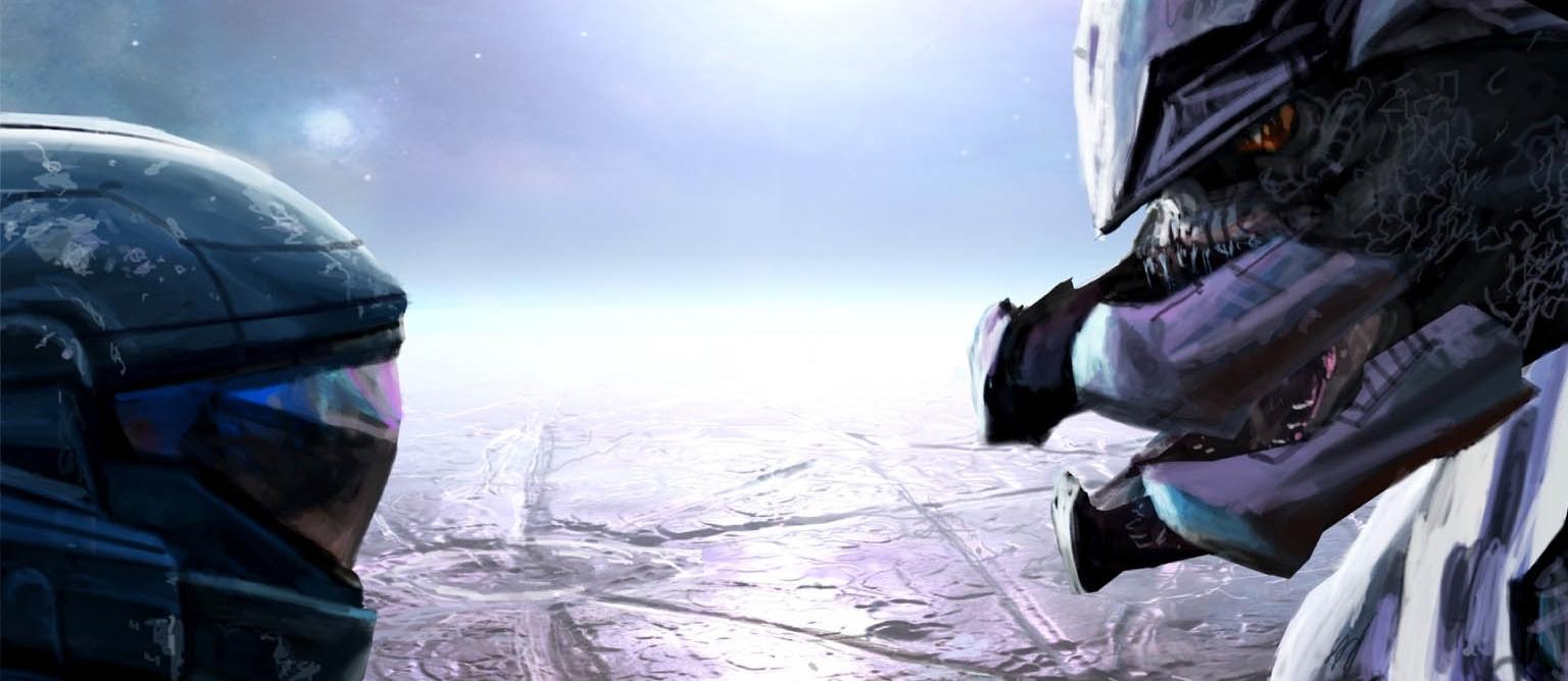 BATTLE OF NEW LLANELLI - Cover art for Halo: Glasslands.
