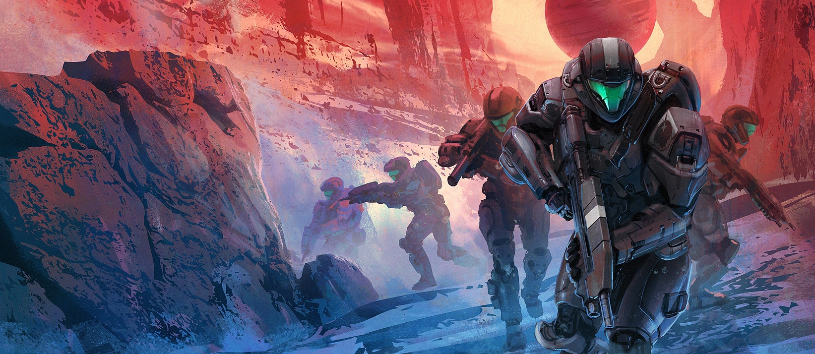 BATTLE OF CASSIDY III - Spartan-IV fireteam Alpha-Nine during an unknown mission, c. 2558.