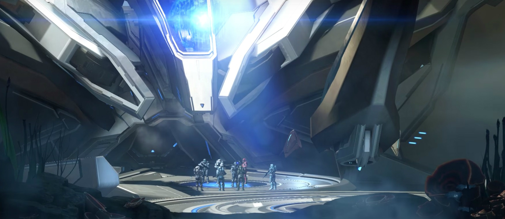 CREATION OF THE DOMAIN - ~500,000,000 BCESpartan-II Blue Team and Spartan-IV Fireteam Osiris at the Gateway to the Domain on Genesis, c. October 2558.