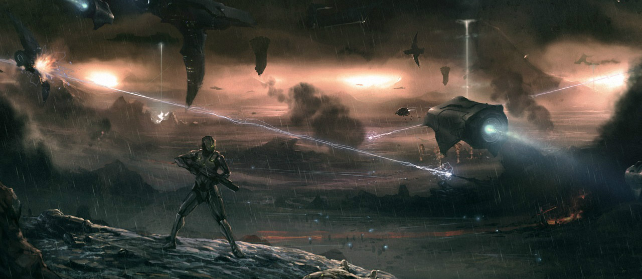 HUMAN-FORERUNNER WARS - ~107,445 BCE - 106,445 BCEAn unknown battle sometime during the Human-Forerunner Wars.