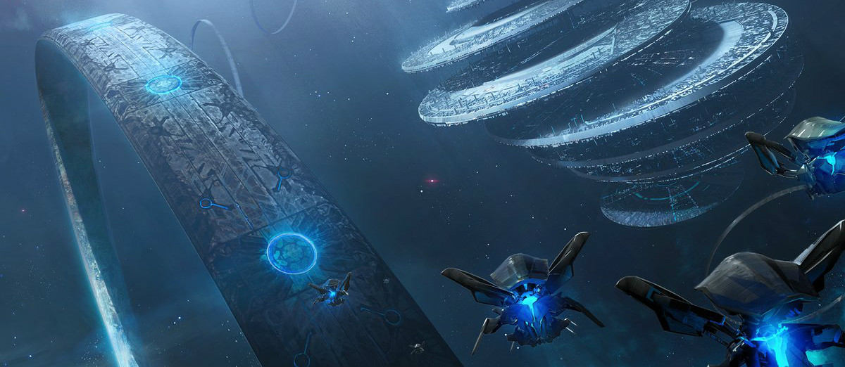 FATE OF MAETHRILLIAN - ~97,454 BCEThe Forerunner capital world Maethrillian, under attack by Mendicant Bias and the Senescent Halo Array, several years prior to the Great Purification in 97,445 BCE.