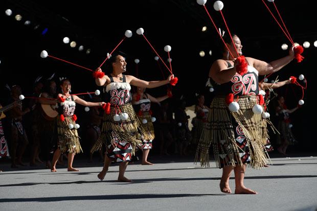 Te Kotahitanga performing at 2013 Te Matatini National Kapa Haka Championships