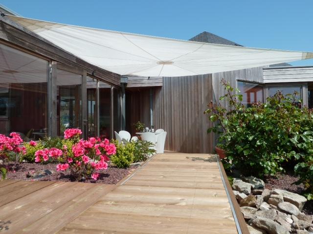 Toile d'ombrage pour terrasse
