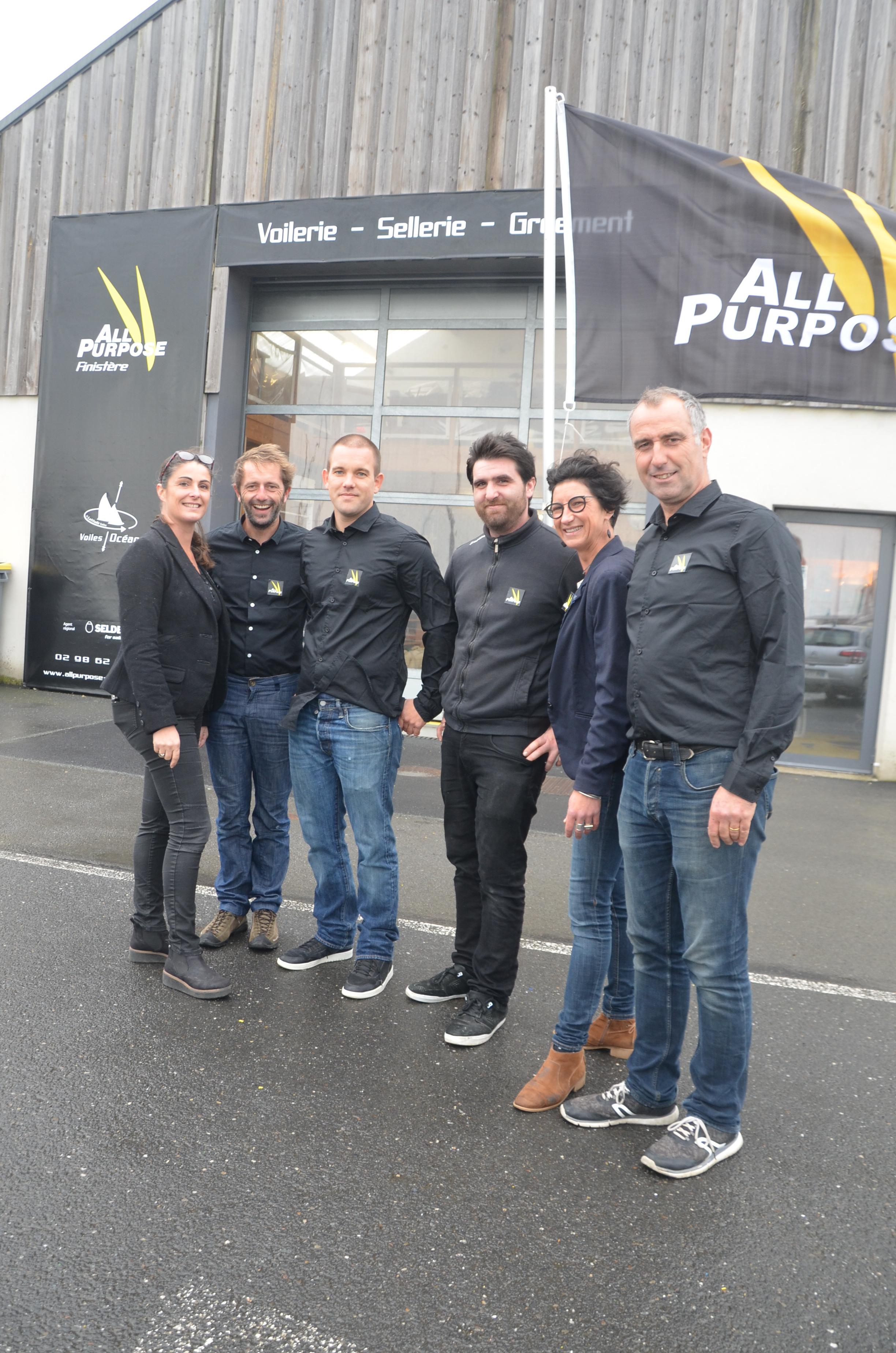 L'équipe All Purpose de Roscoff avec de gauche à droite : Nathalie, Stéphane, Alex, Mathieu, Charlotte et Gaêl