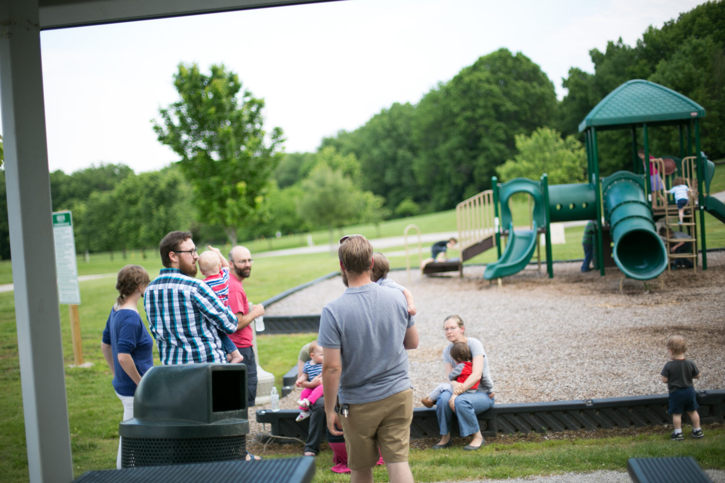 families at the park