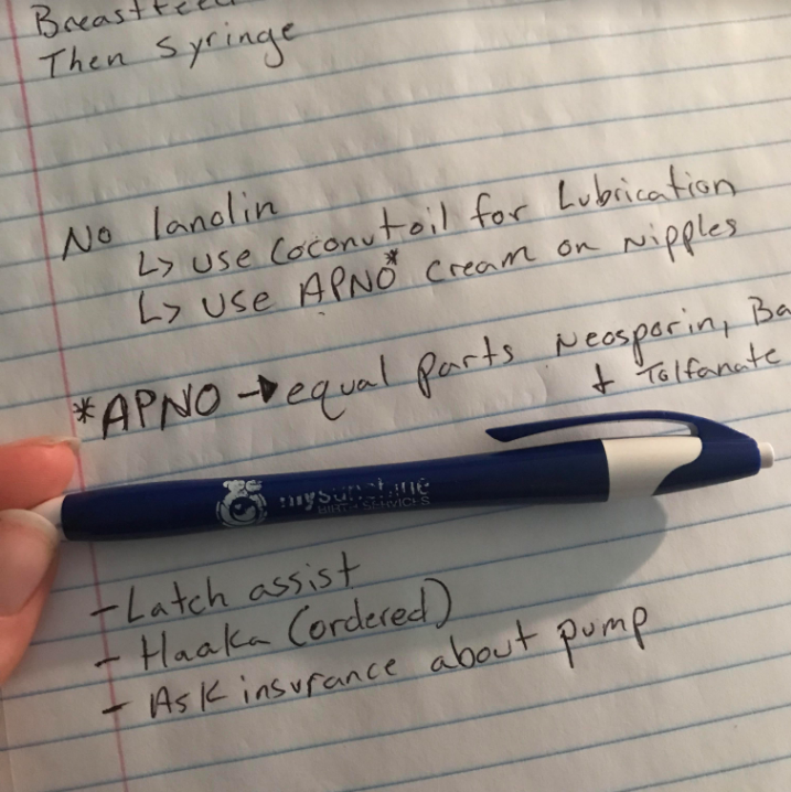 """""""I was also excited to see their worn out My Sunshine pen alongside their notepad."""""""