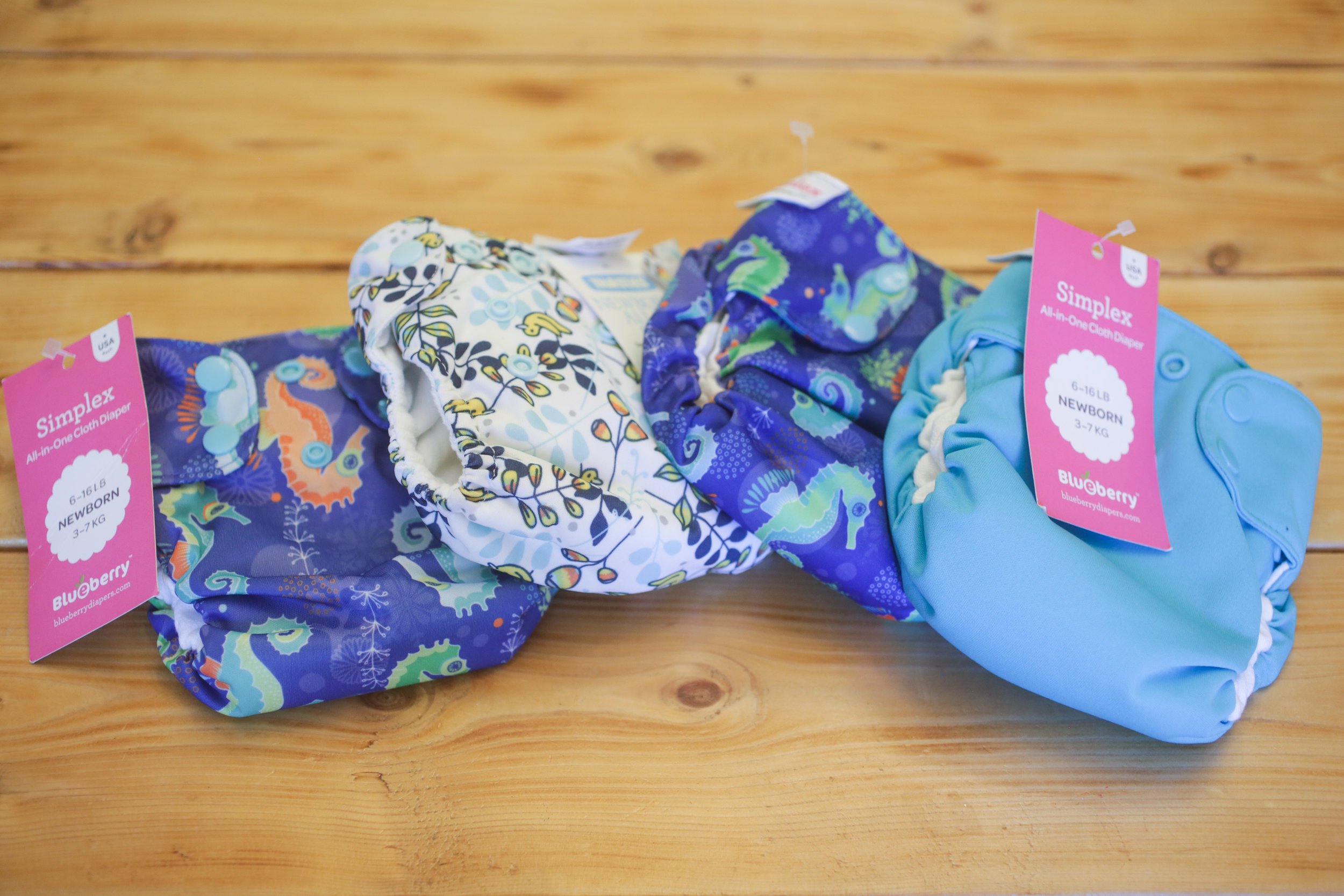 Cloth diapers donated by: Juliet Dietsch