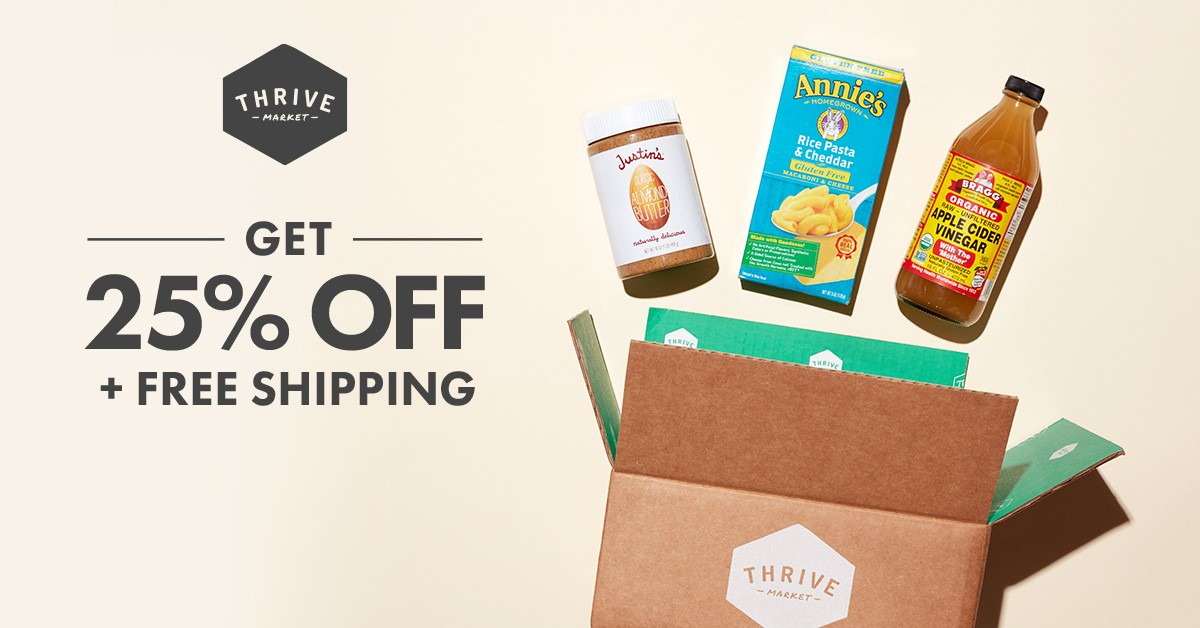 Thrive Market Promo Code 25 off and free shipping