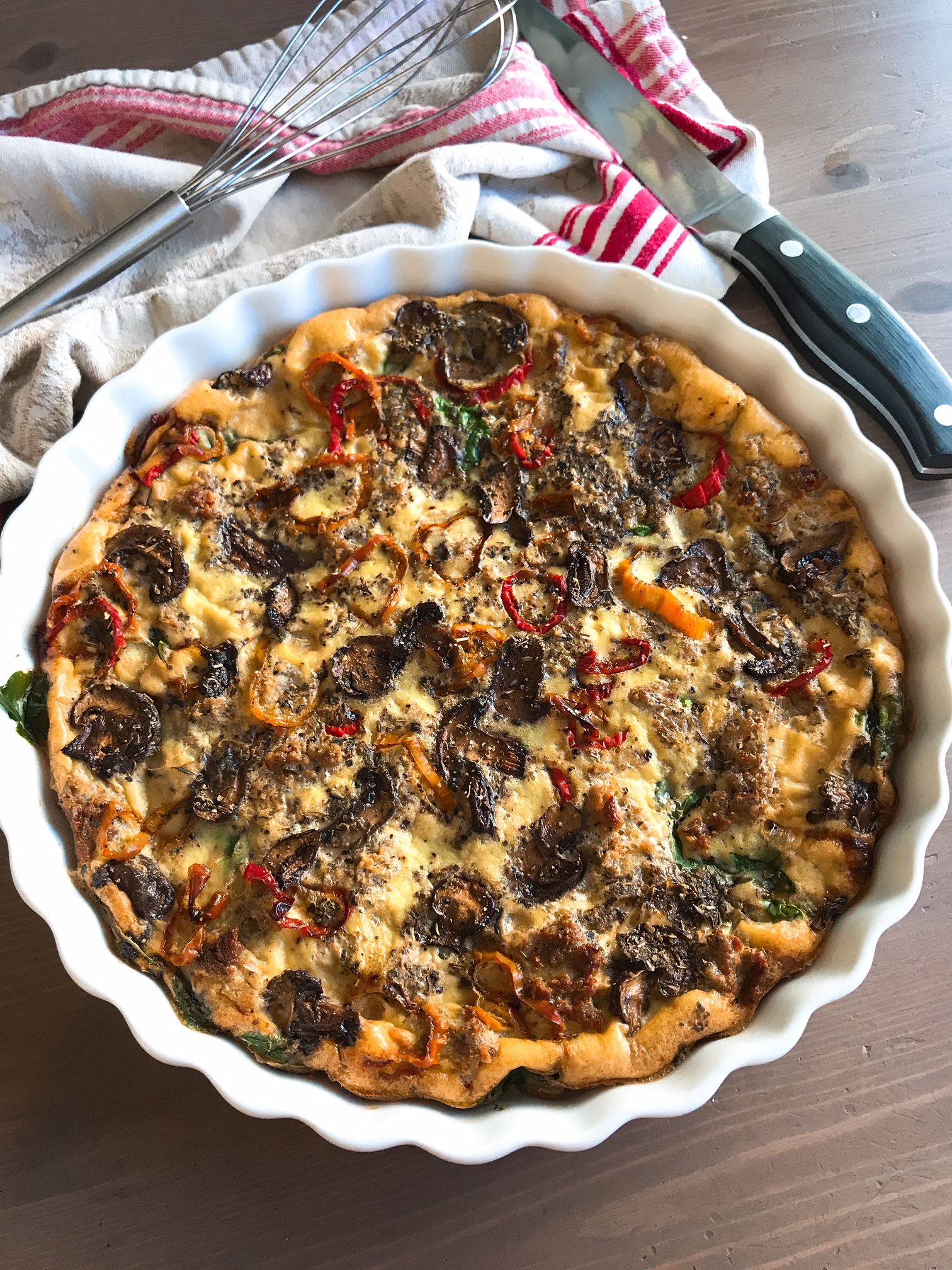 sausage and pepper frittata.JPG