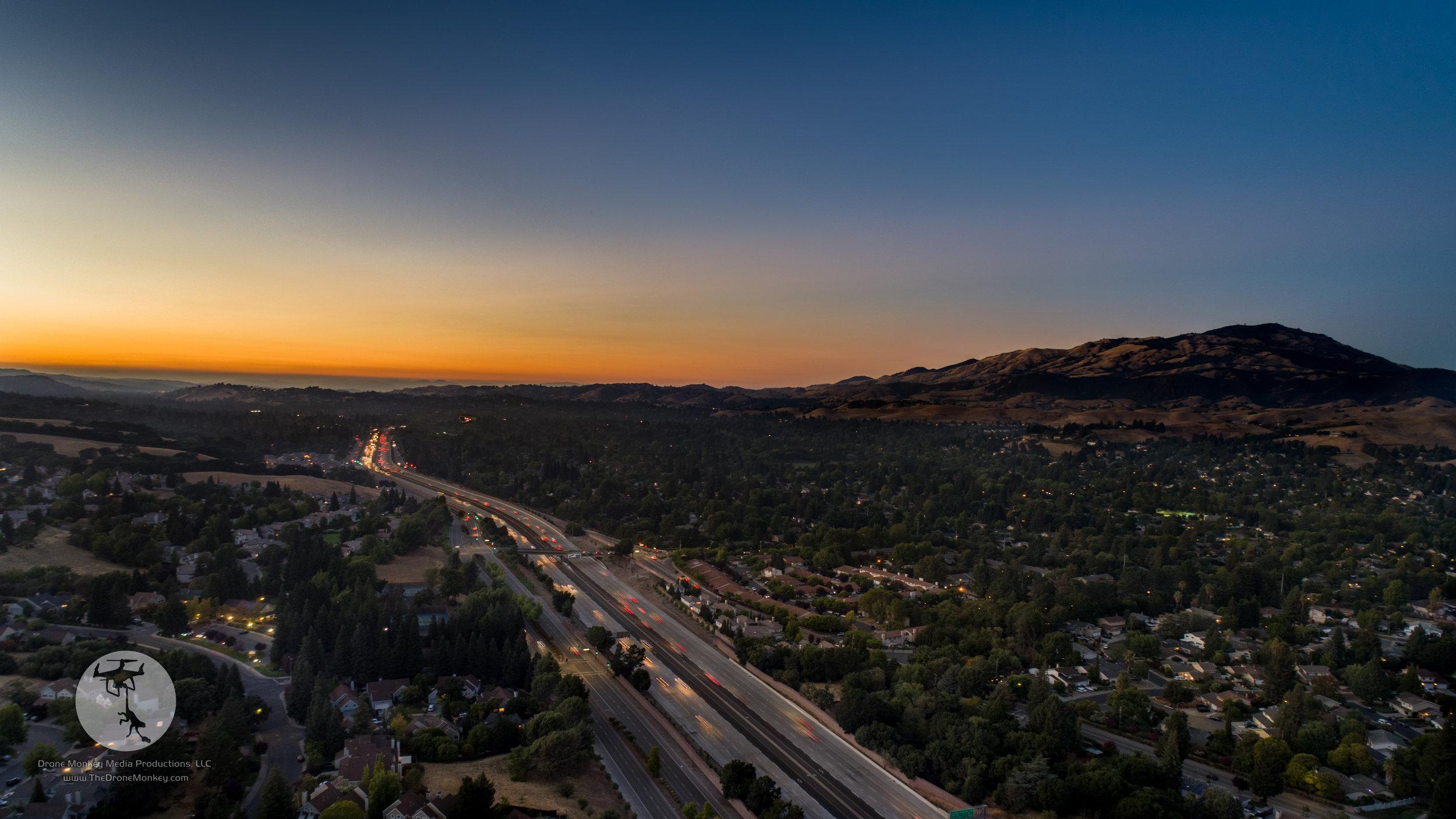 Sunset over Danville, CA
