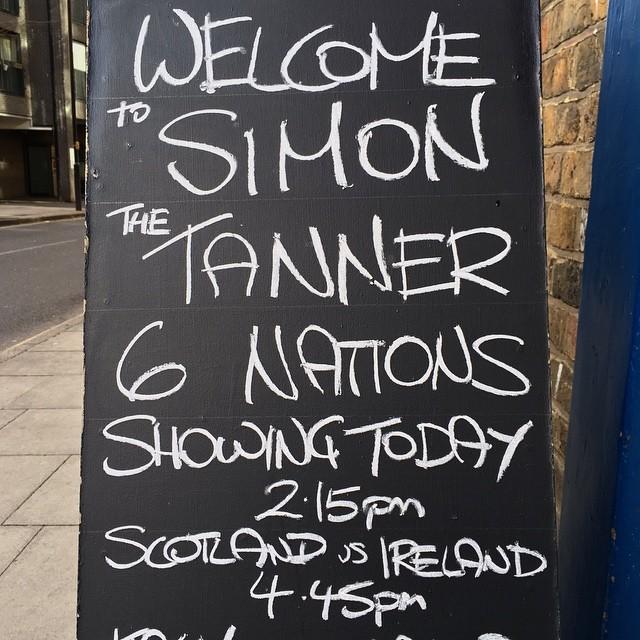 #londonpub #simonthetanner #sixnations