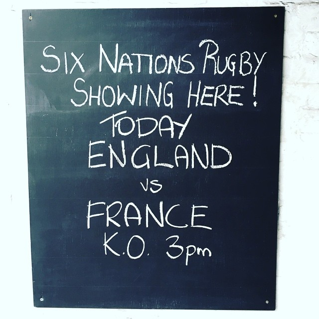 Don't miss it! Sunday Roast great beer and the game! #sixnations #rugby #londonpub #bermondsey #simonthetanner