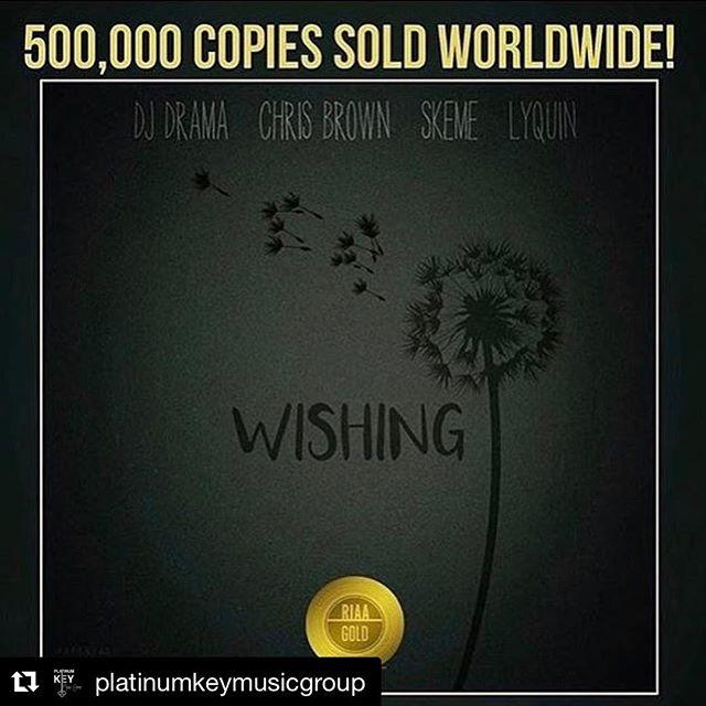 500,000 copies sold!! 🤘🏽😈🍾 Congrats to @jnatbeats @its12.am  @platinumkeymusicgroup @djdrama @chrisbrownofficial @lyquin #wishin #teamworkmakesthedreamwork #hustle #grind #gold #itunes #download #pressplay #jetlife #believeinyourself