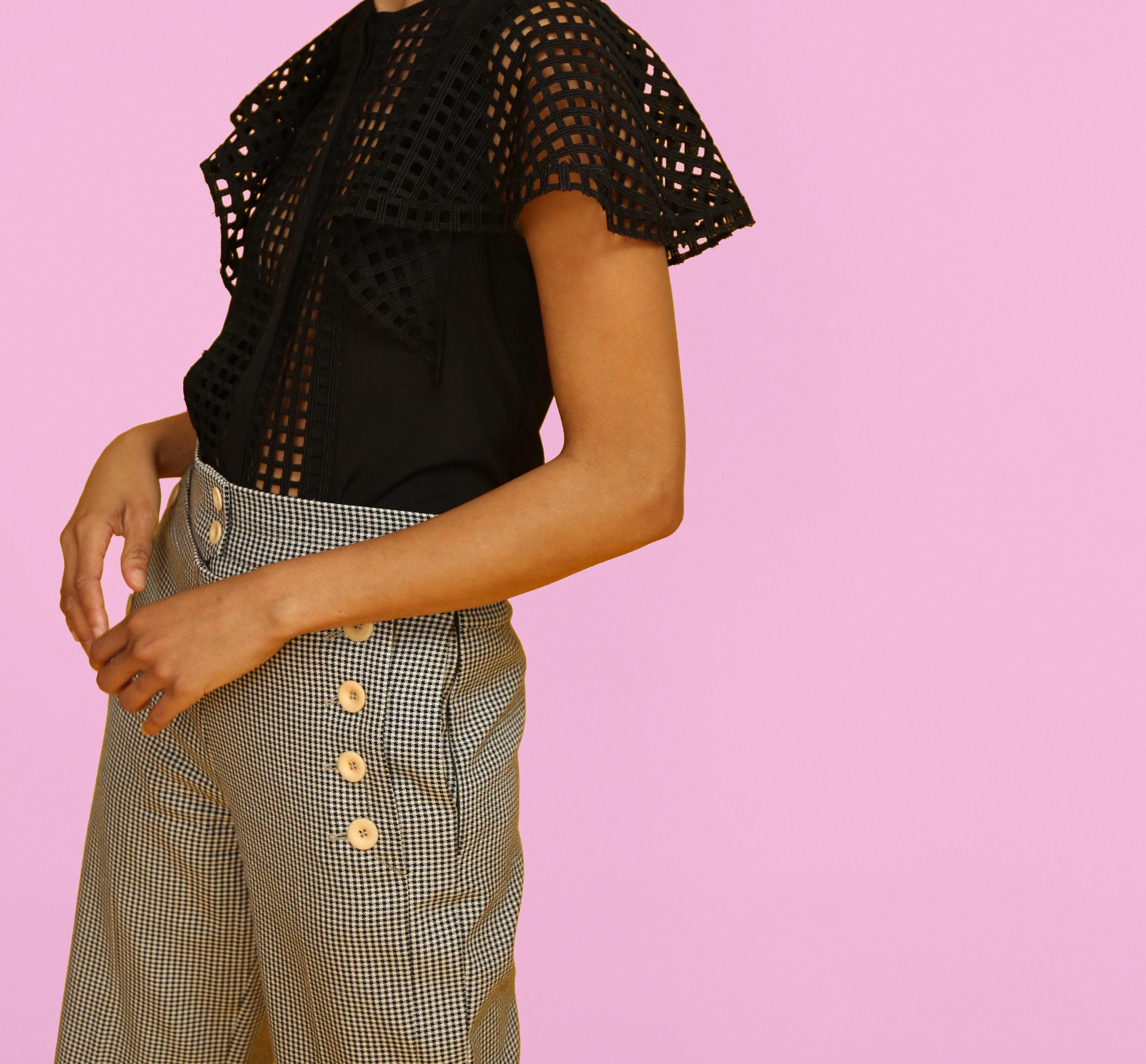 Graphic Lace Blouse