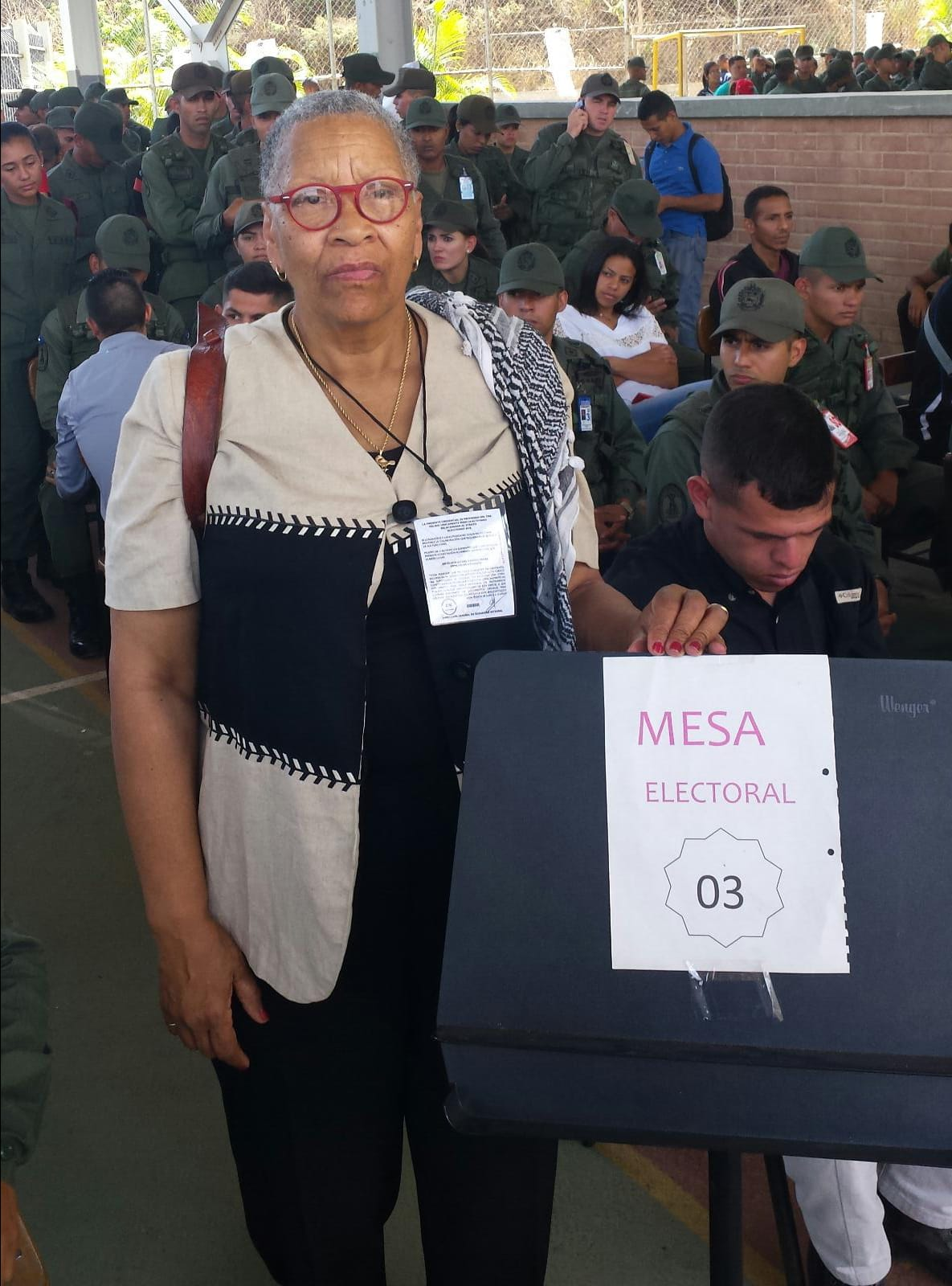 BAP member Efia Nwangaza in Venezuela for the presidential election!