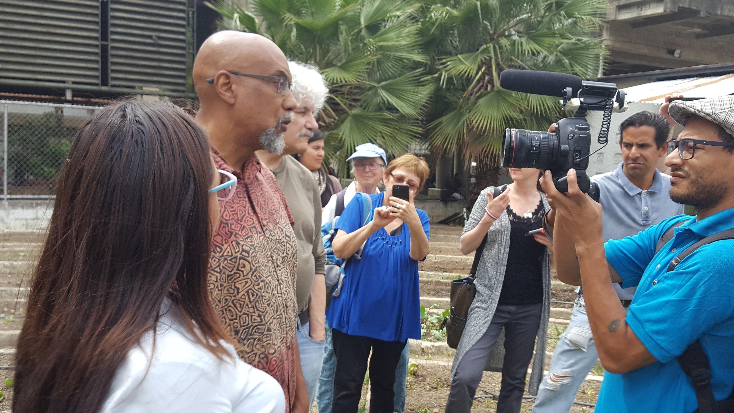 Delegation at Caracas community garden