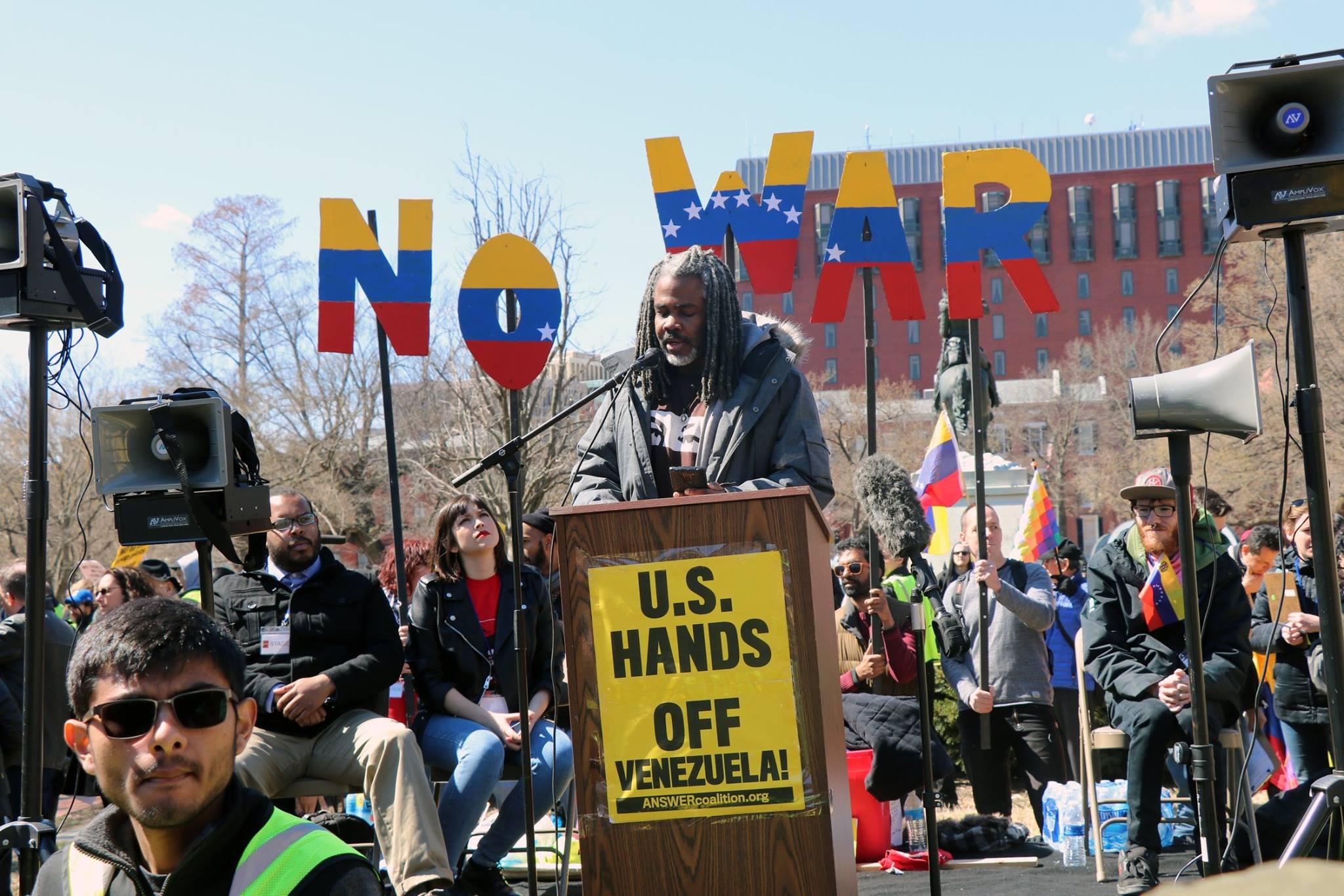 Netfa Freeman at National March on Washington, March 16, 2019