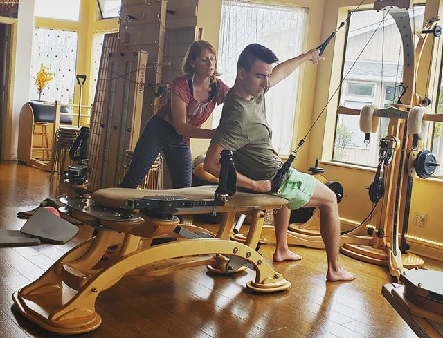 Morning Gyrotonics with Instructor Rochelle!  #joyofmovement #joyofmovementpilates #joyofmovementaptos #pilates #gyrotonic #gyrotonicmethod #gyrotonicpilates #aptoslife #aptos #aptosia #santacruz #aptospilates