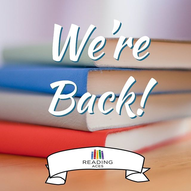 Welcome back! We hope everyone had a great summer. Fall volunteer sessions start this week so make sure visit our website to sign up! #ReadingAces #ReadingIsFun