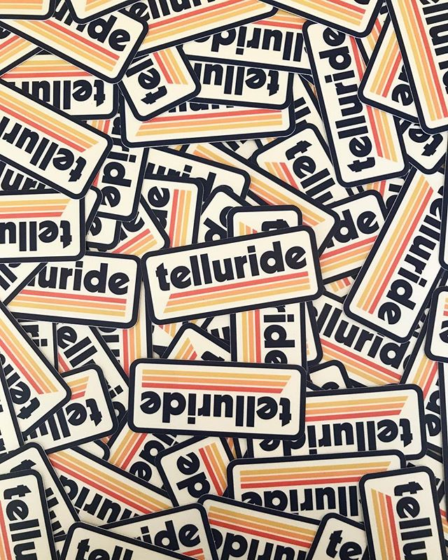 Shipping out some stickers and tees to @telluridetoggery today! Stoked to have a new Acme Local account in Colorado. . . #telluride #telluridecolorado #stickers #customstickers #acmelocal #graphicdesign #design #stickerdesign #badgedesign