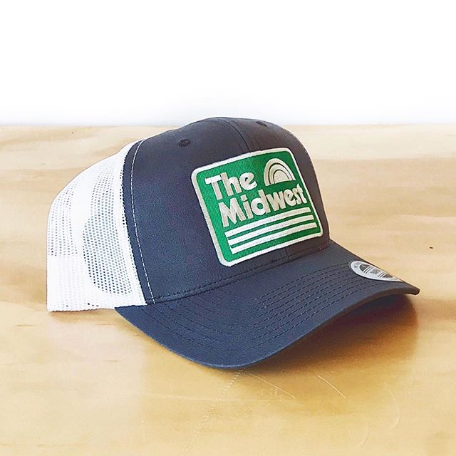 The Midwest trucker patch hat. Back in stock online! . . #midwest #truckerhat #themidwest #shoplocal #acmelocal #hat #cap #apparel #design #graphicdesign