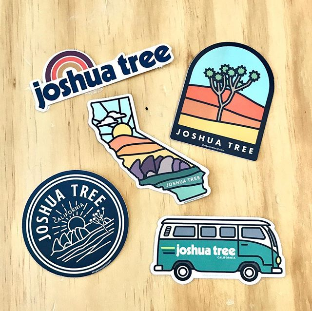 Sharing some local love in California! Find these stickers at the Grateful Desert in Joshua Tree. . . #joshuatree #california #joshuatreenationalpark #graphicdesign #design #sticker #acmelocal